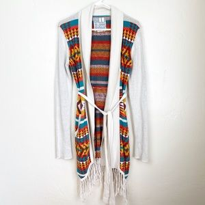 Billabong   Multicolor Open Tie Pattern Cardigan